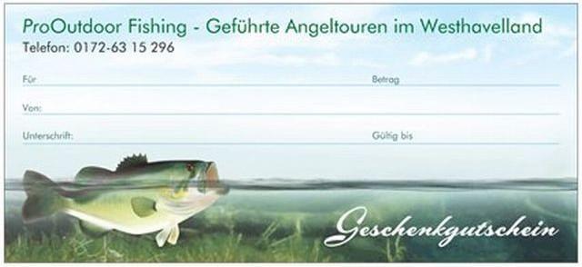 Geschenkgutschein für Angler, Geschenk für Angler