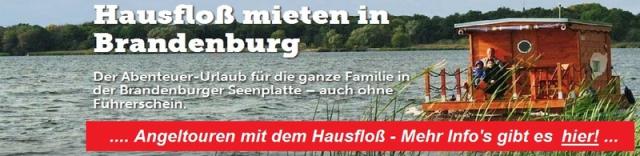 Hausfloß mieten, Brandenburg Angelurlaub, Plauersee Outdoor